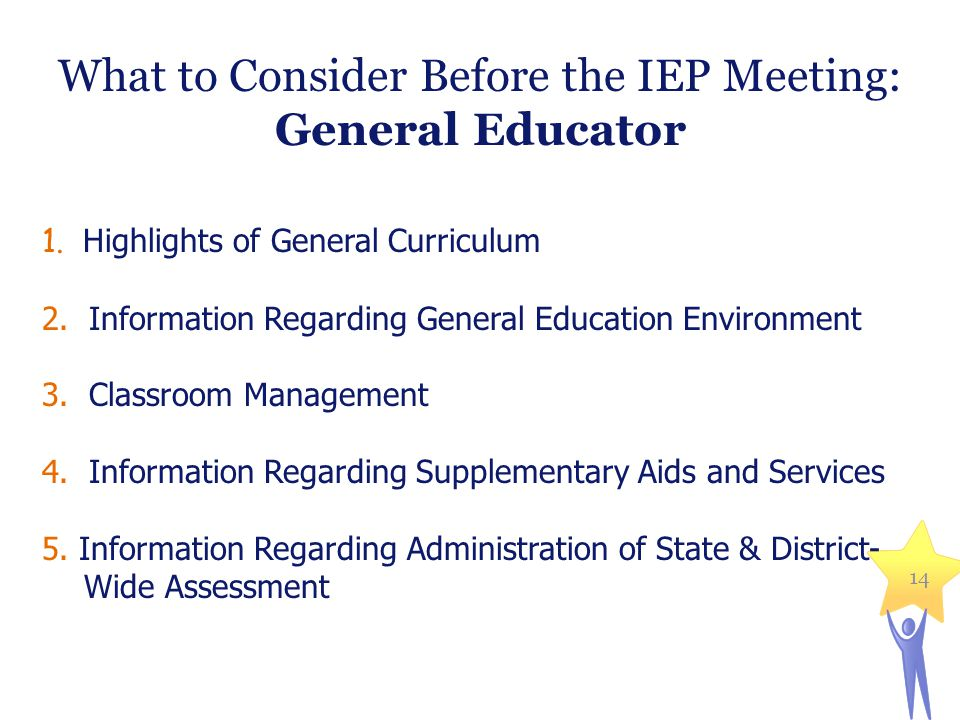 What to Consider Before the IEP Meeting: