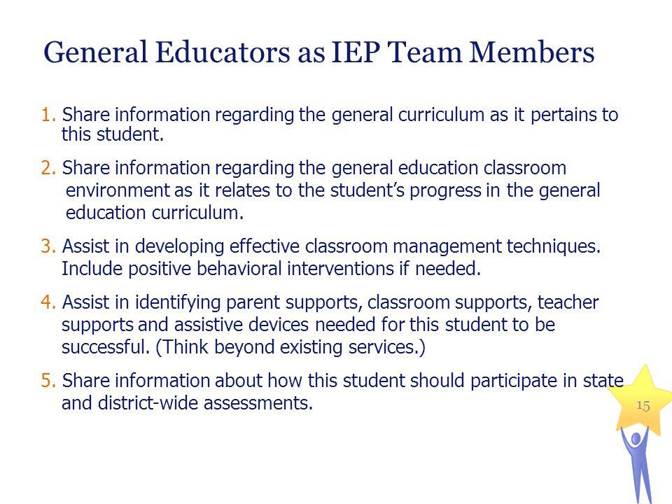 General Educators as IEP Team Members
