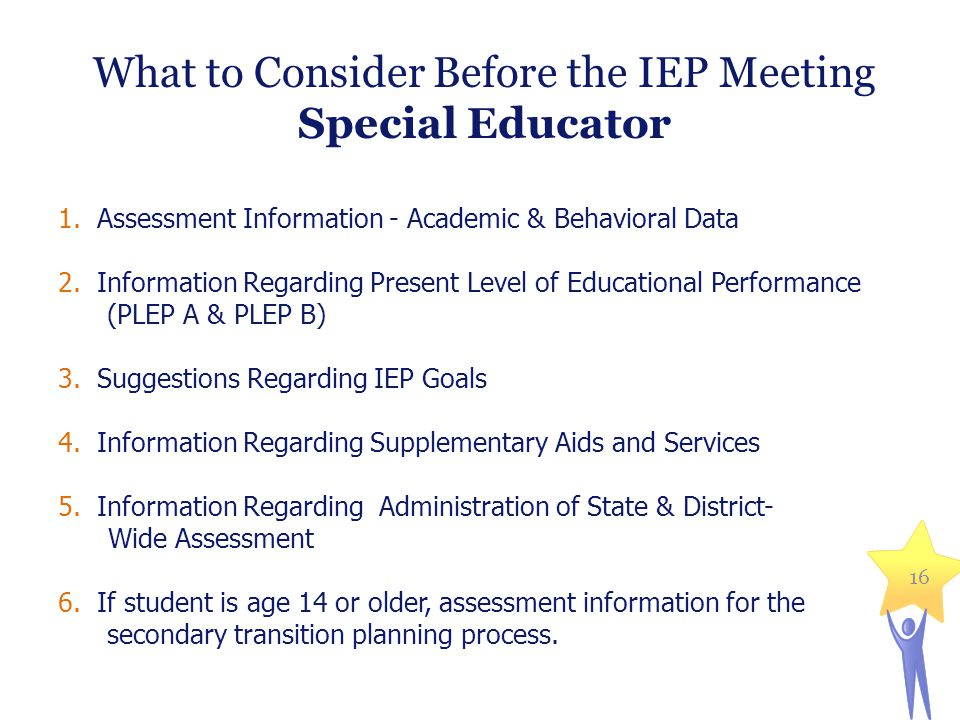 What to Consider Before the IEP Meeting