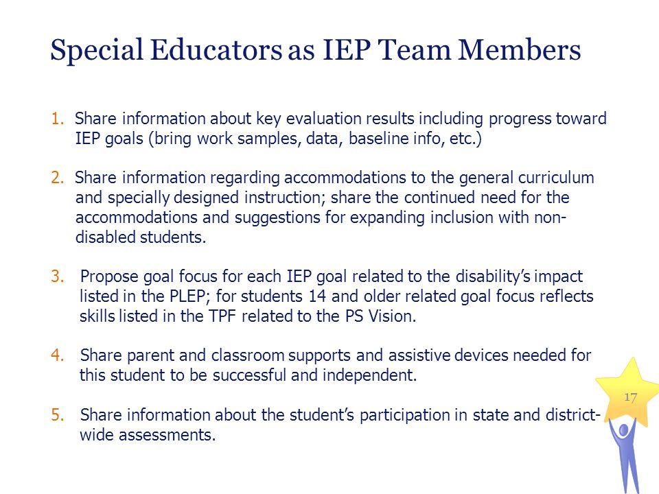 Special Educators as IEP Team Members