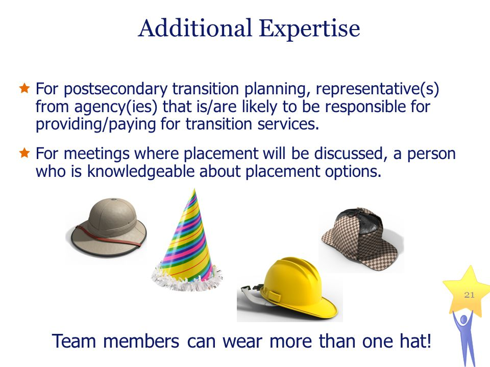 Team members can wear more than one hat!