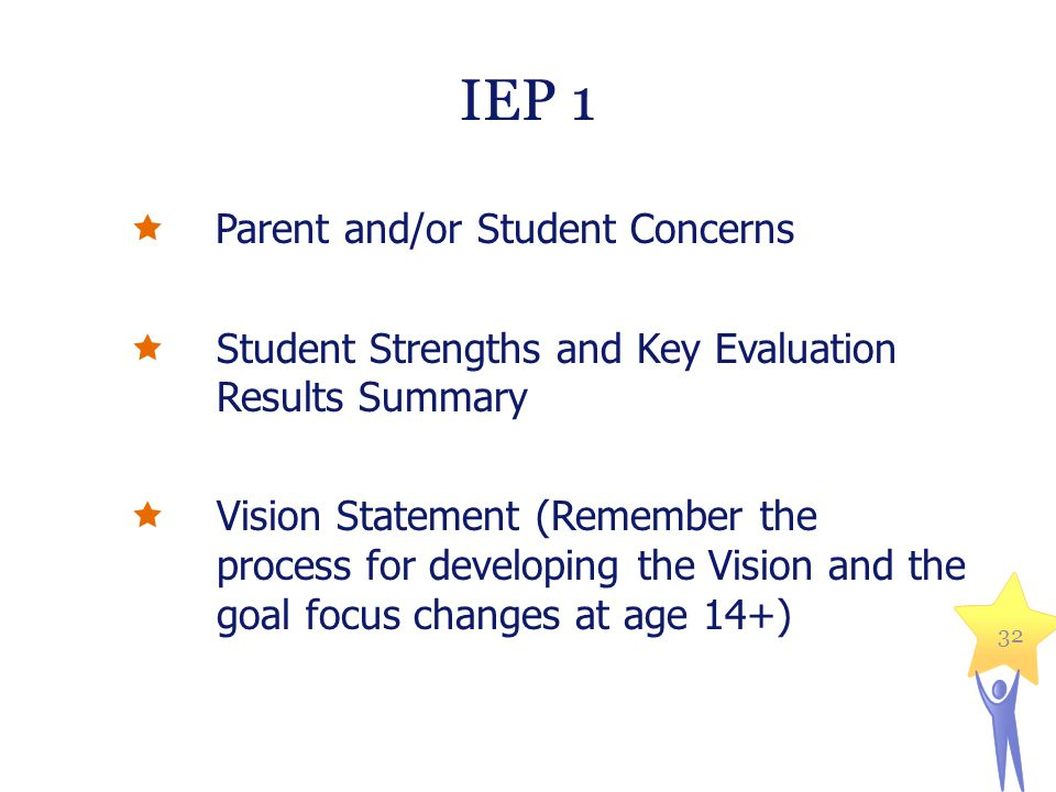 IEP 1 Parent and/or Student Concerns
