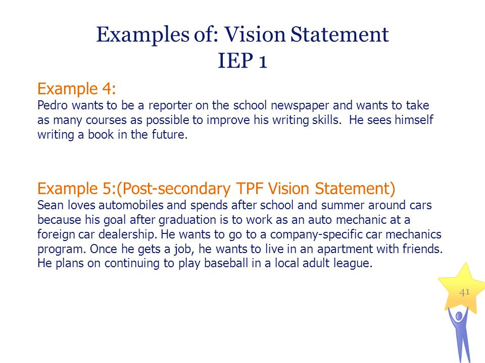 Examples of: Vision Statement
