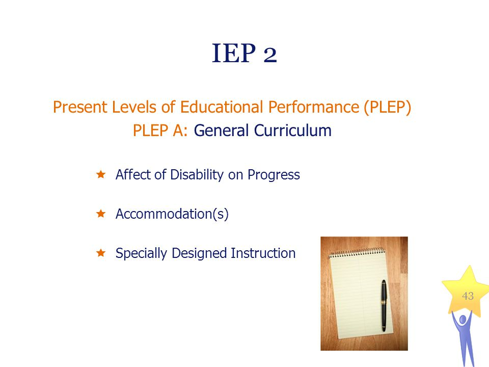 IEP 2 Present Levels of Educational Performance (PLEP)