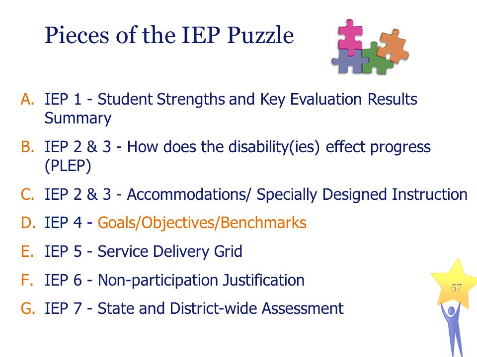Pieces of the IEP Puzzle