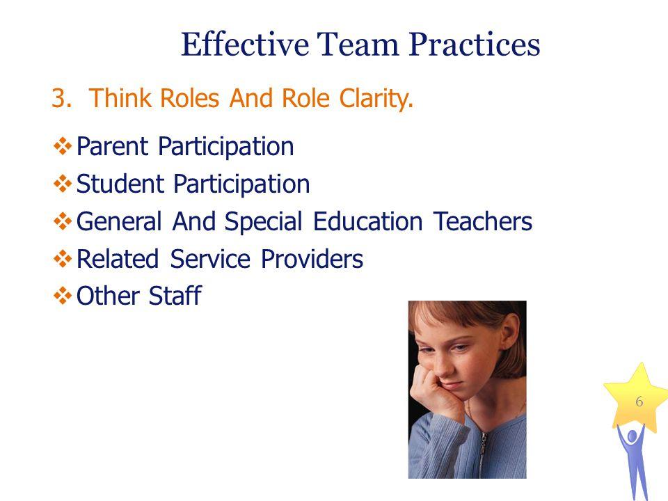 Effective Team Practices