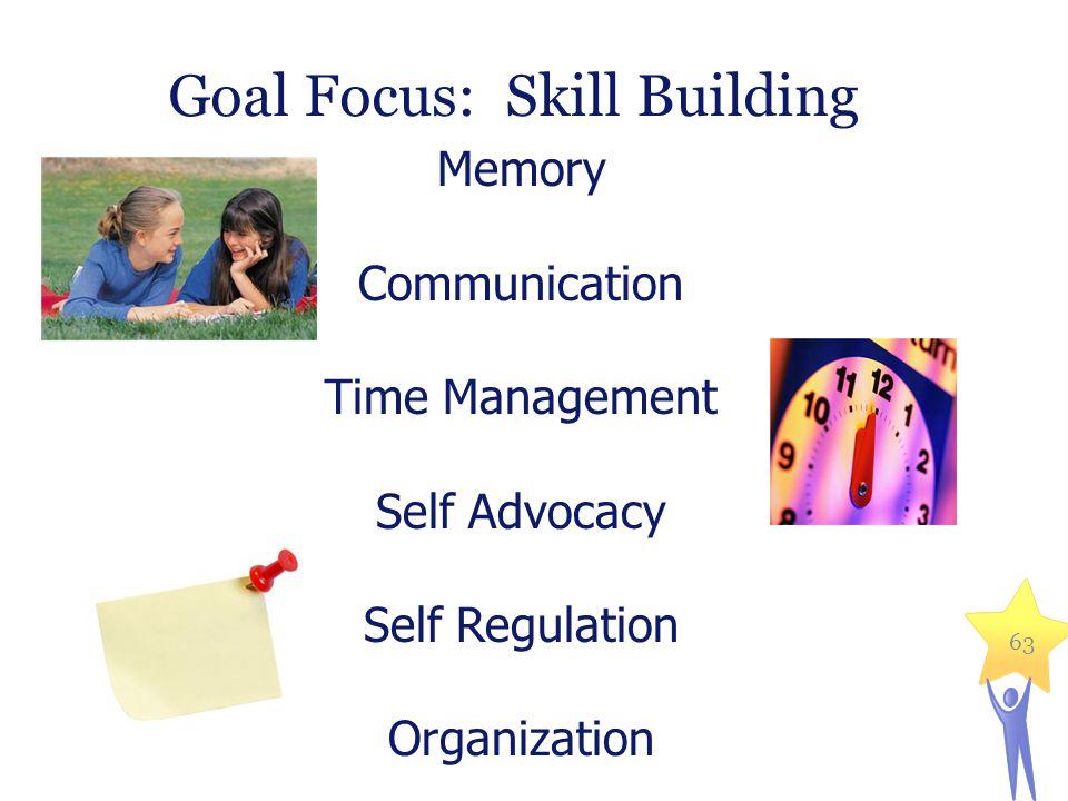 Goal Focus: Skill Building