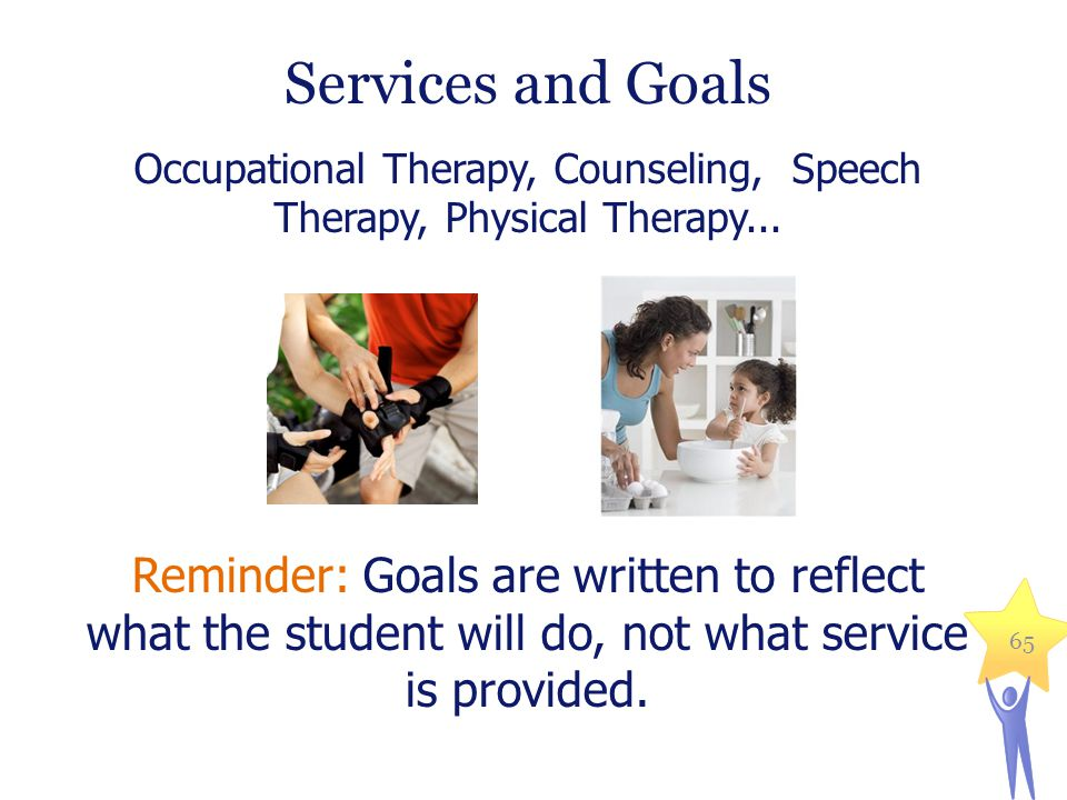 Occupational Therapy, Counseling, Speech Therapy, Physical Therapy...