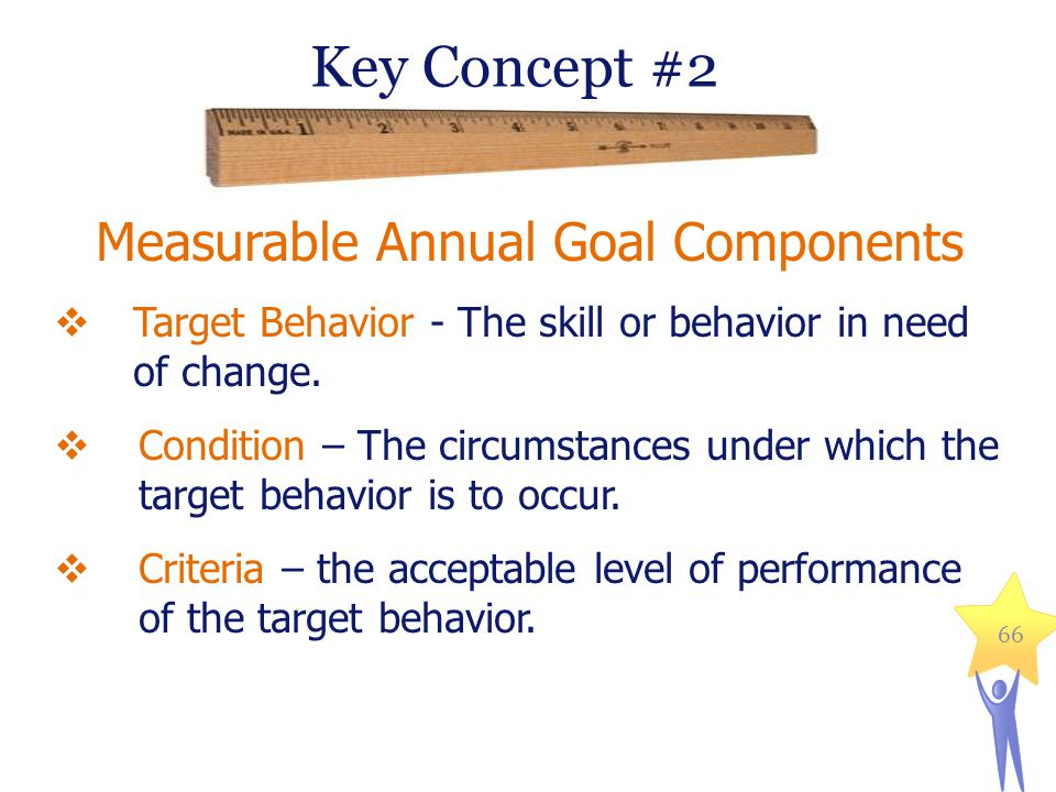 Measurable Annual Goal Components