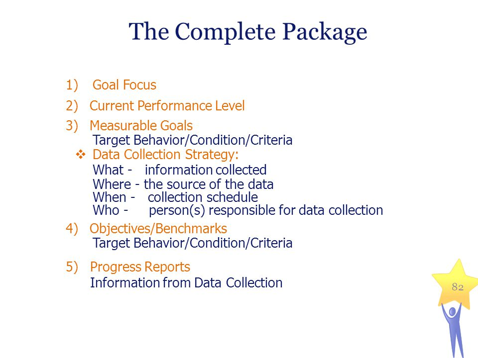 The Complete Package Goal Focus Current Performance Level