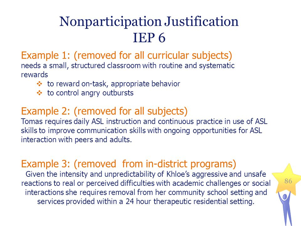 Nonparticipation Justification