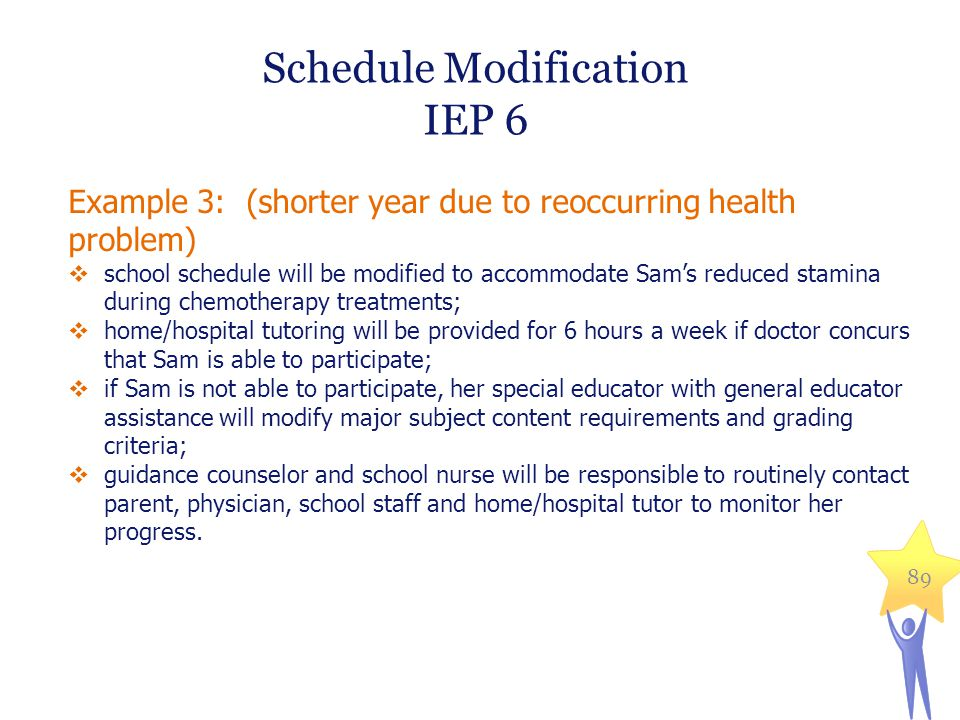 Schedule Modification