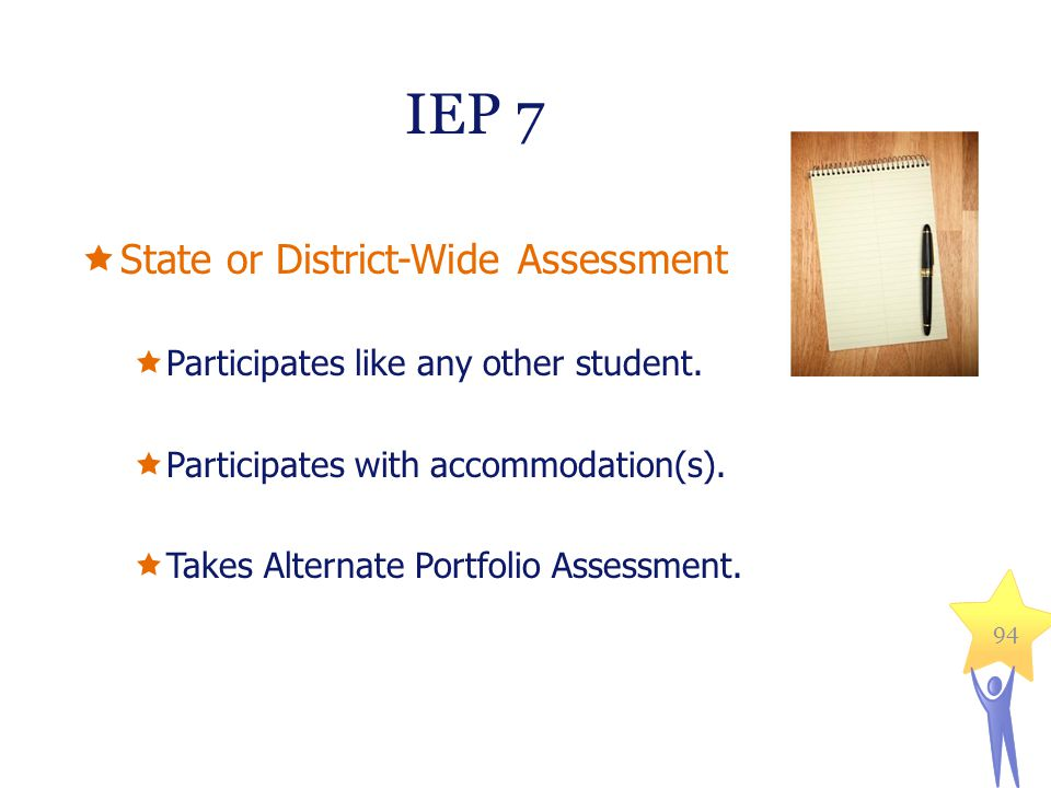 IEP 7 State or District-Wide Assessment