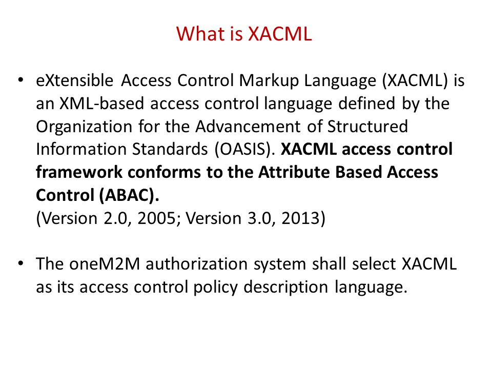 What is XACML