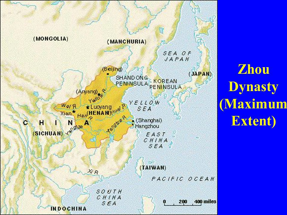 Zhou Dynasty (Maximum Extent)