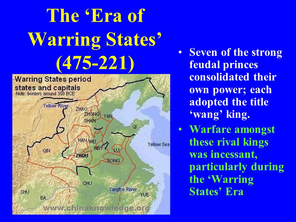 The 'Era of Warring States' (475-221)