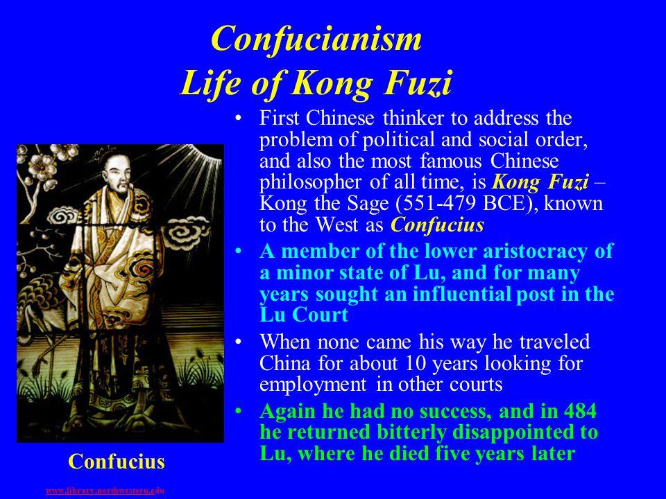 Confucianism Life of Kong Fuzi