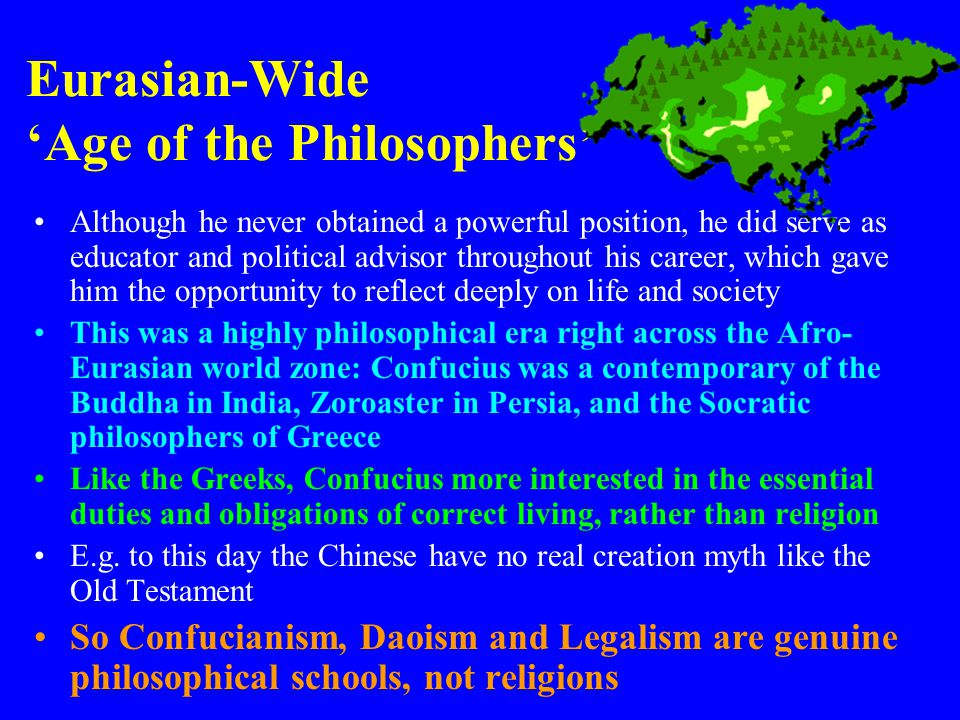 Eurasian-Wide 'Age of the Philosophers'