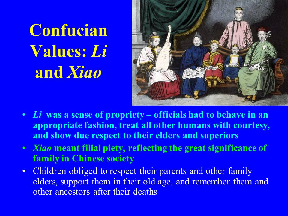 Confucian Values: Li and Xiao