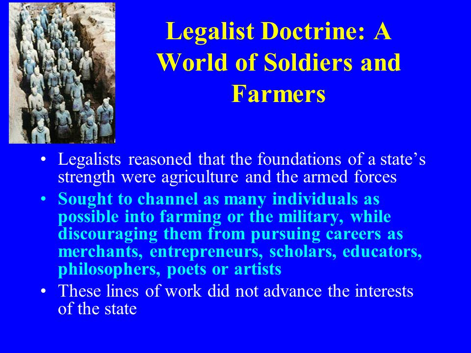 Legalist Doctrine: A World of Soldiers and Farmers