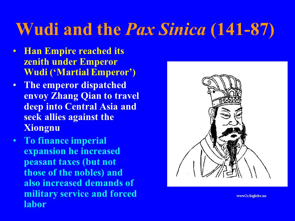 Wudi and the Pax Sinica (141-87)
