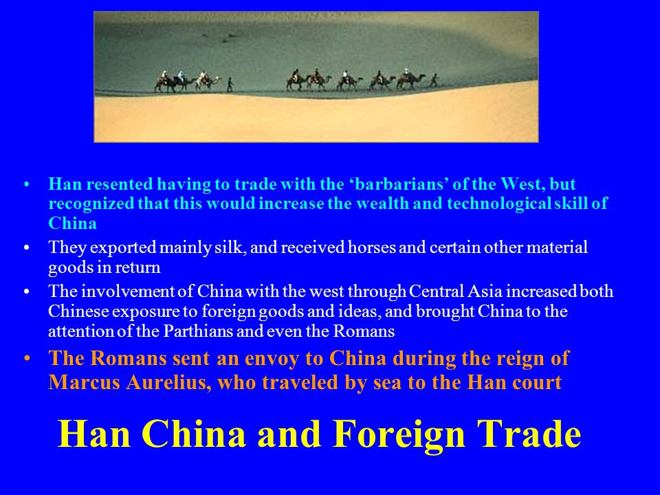 Han China and Foreign Trade
