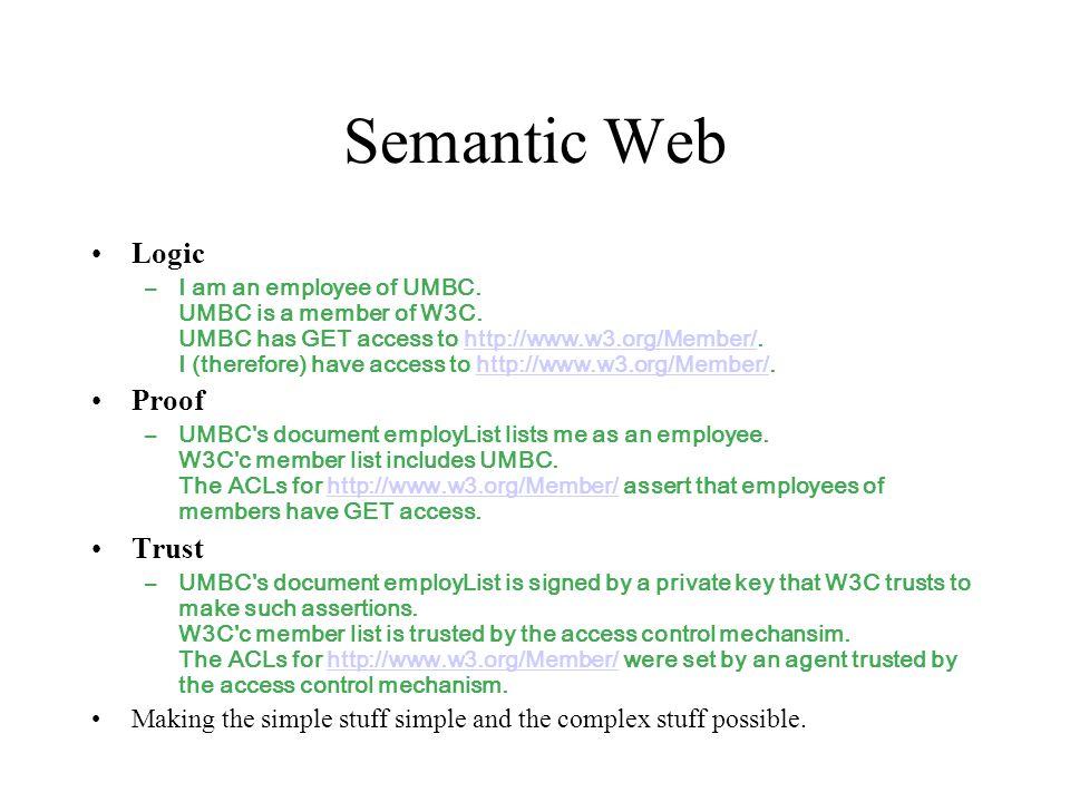 Semantic Web Logic Proof Trust