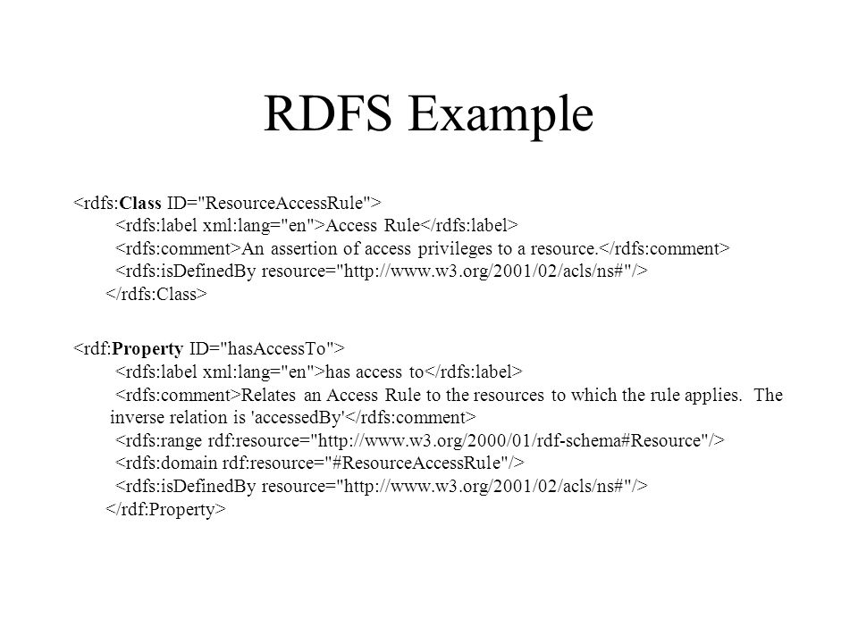 RDFS Example