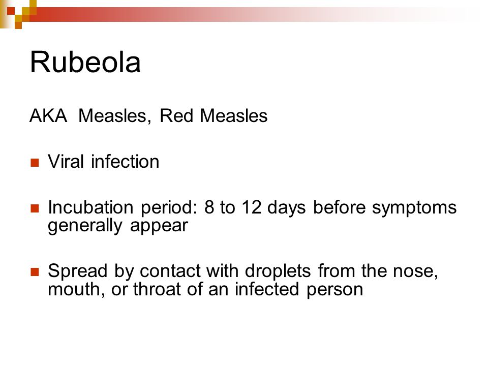 Rubeola AKA Measles, Red Measles Viral infection
