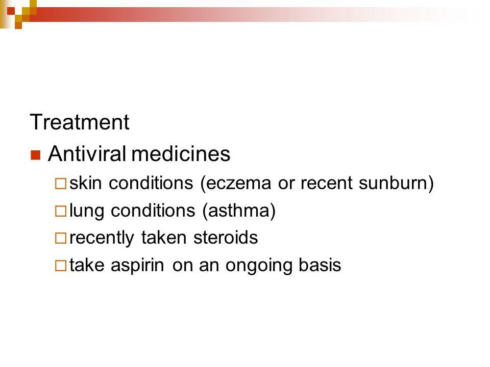 Treatment Antiviral medicines