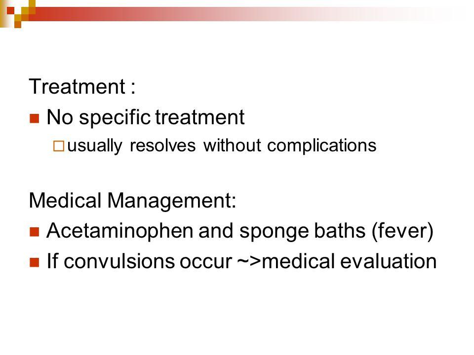 Acetaminophen and sponge baths (fever)