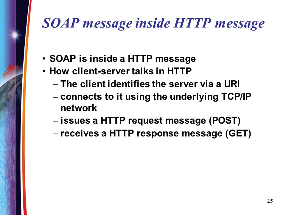 SOAP message inside HTTP message