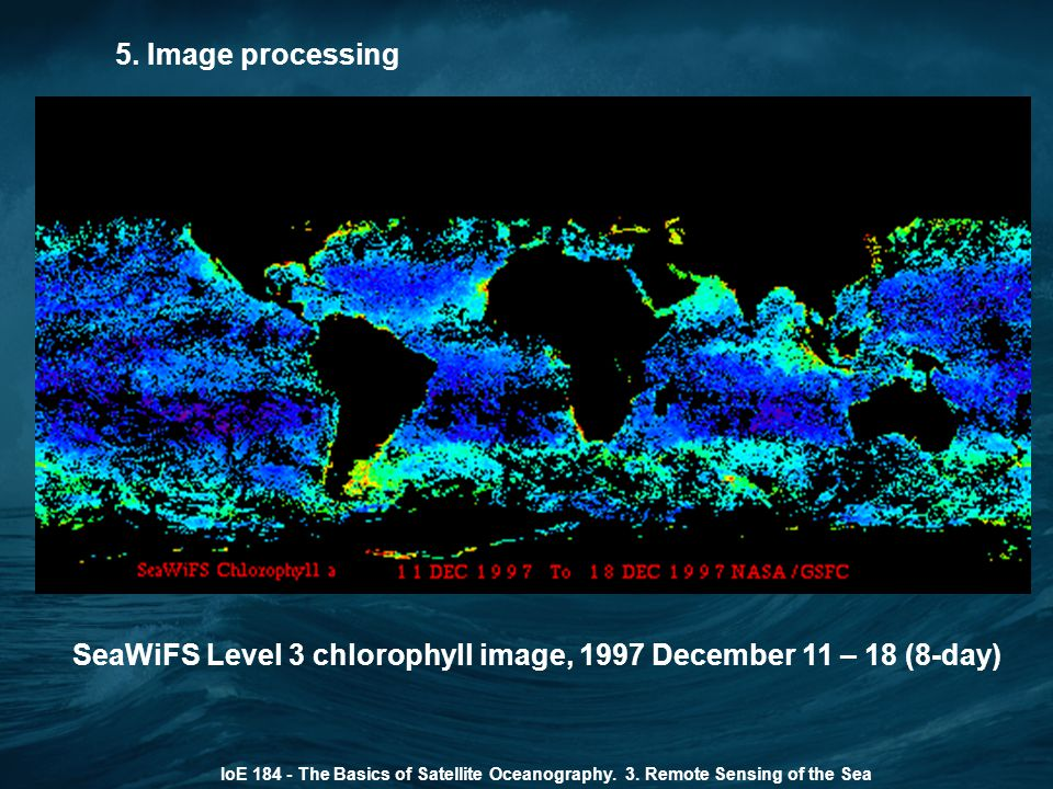 SeaWiFS Level 3 chlorophyll image, 1997 December 11 – 18 (8-day)