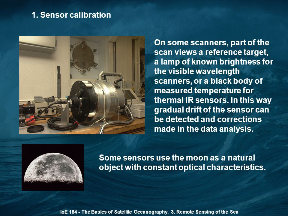 1. Sensor calibration