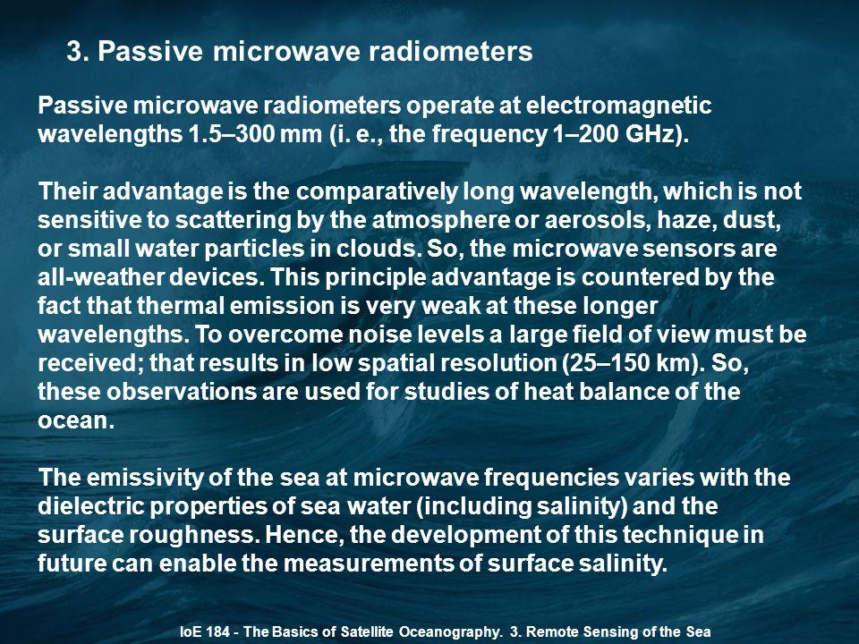 3. Passive microwave radiometers