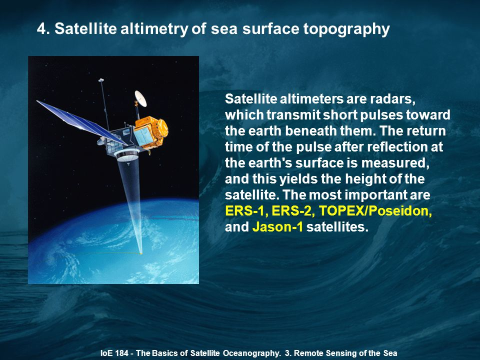 4. Satellite altimetry of sea surface topography