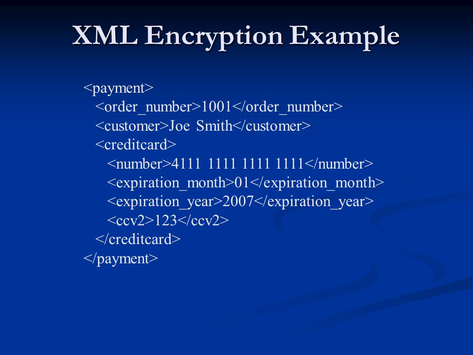 XML Encryption Example