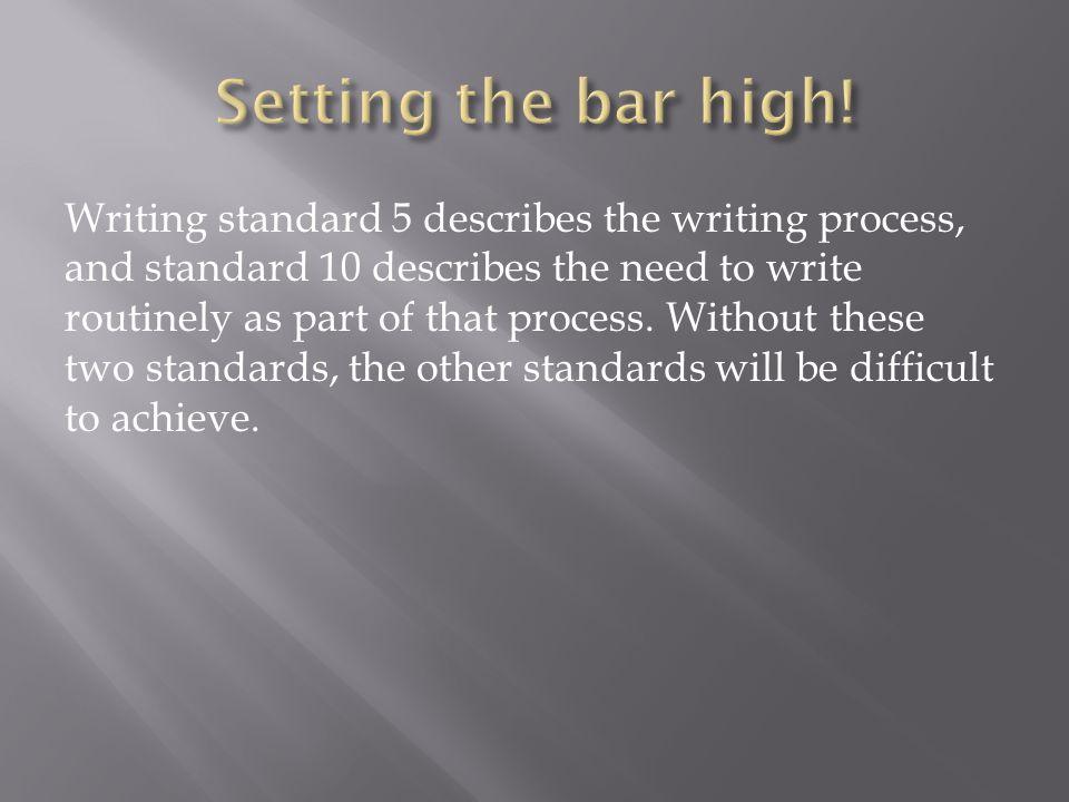 Setting the bar high!