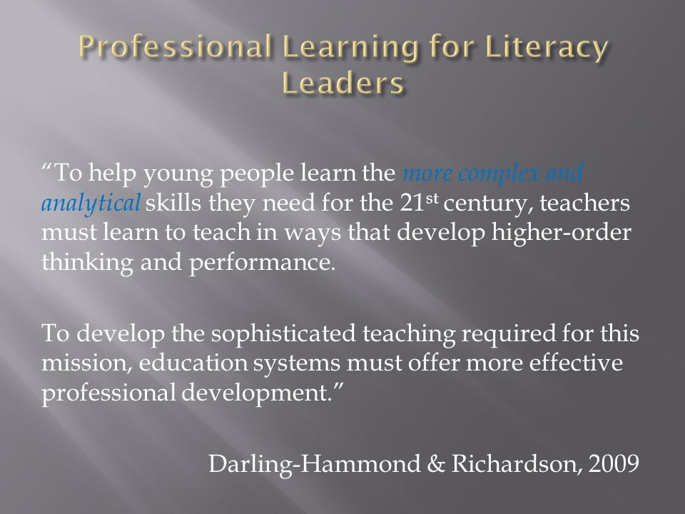 Professional Learning for Literacy Leaders