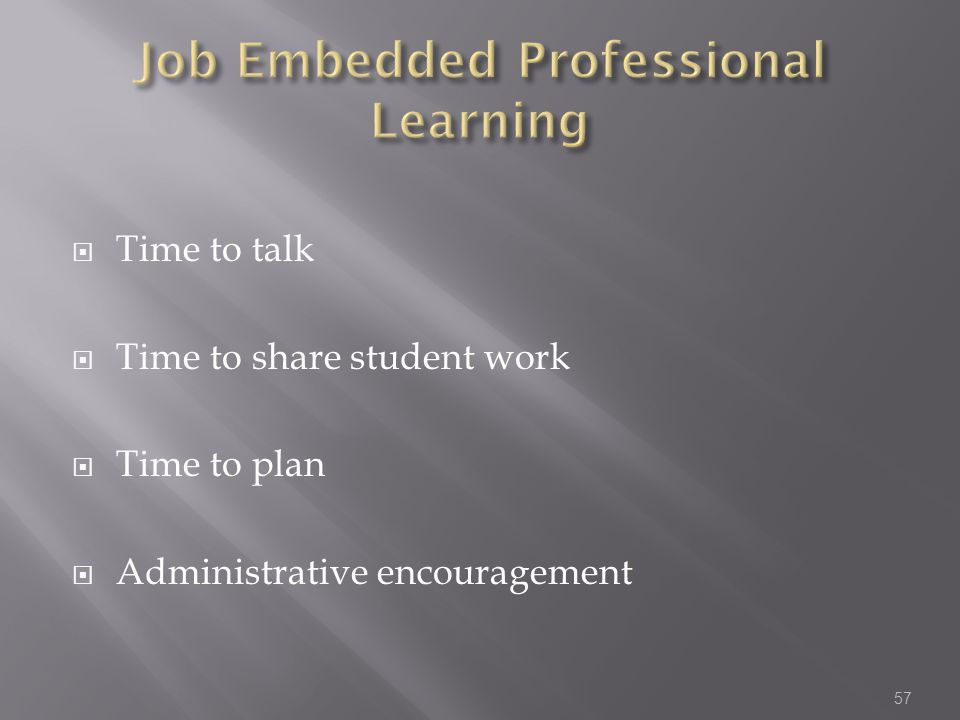 Job Embedded Professional Learning