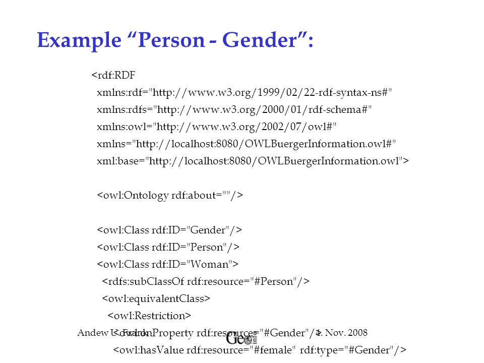Example Person - Gender :