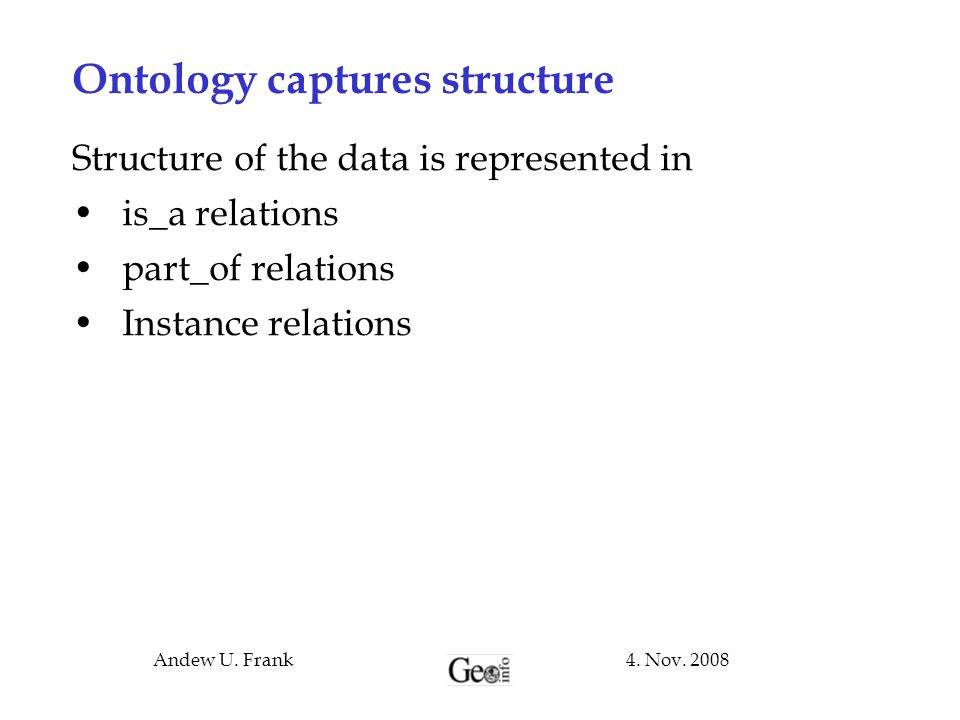 Ontology captures structure