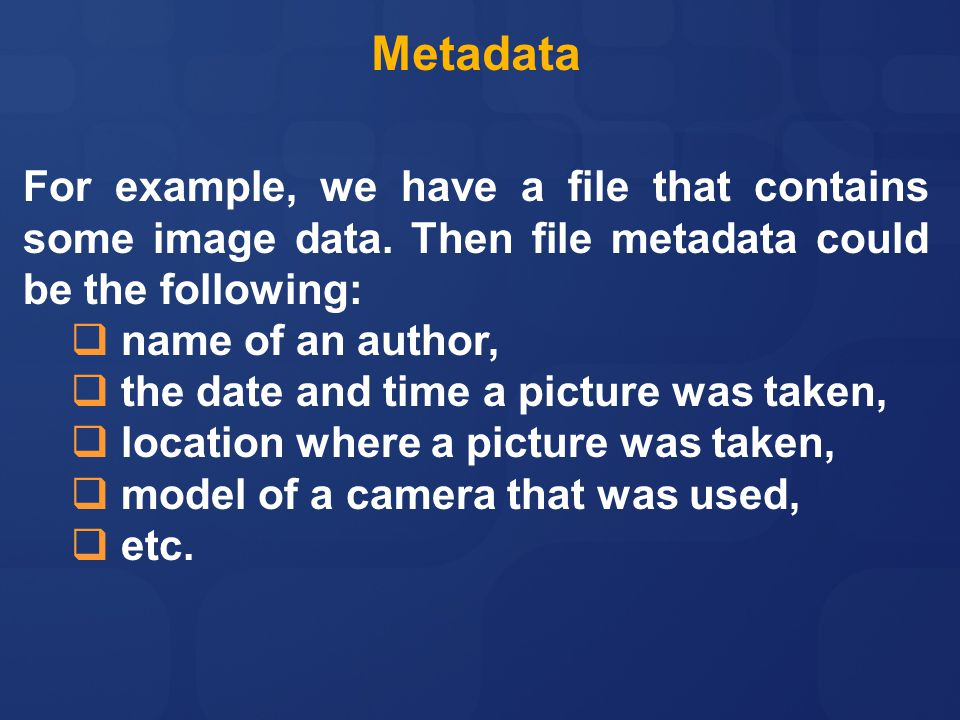 Dating websites that have metadata