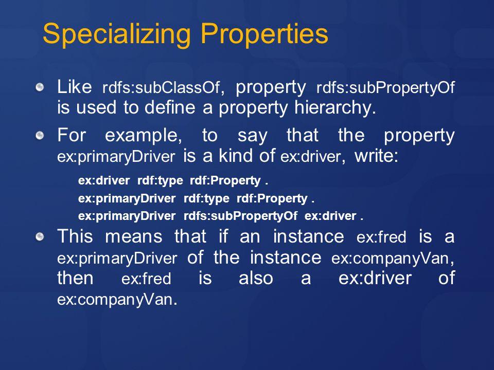 Specializing Properties