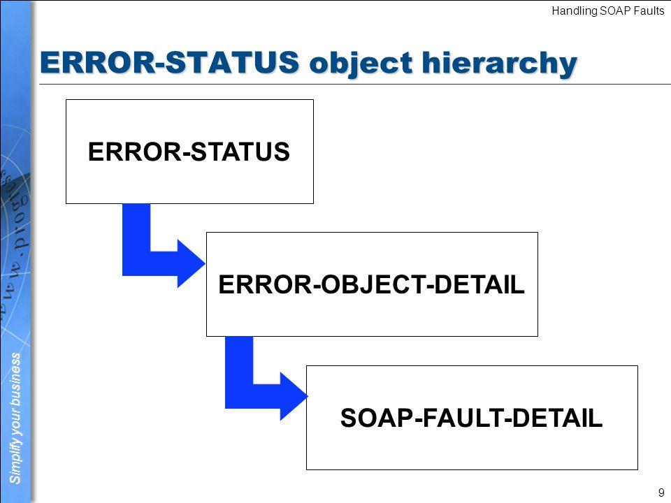 ERROR-STATUS object hierarchy