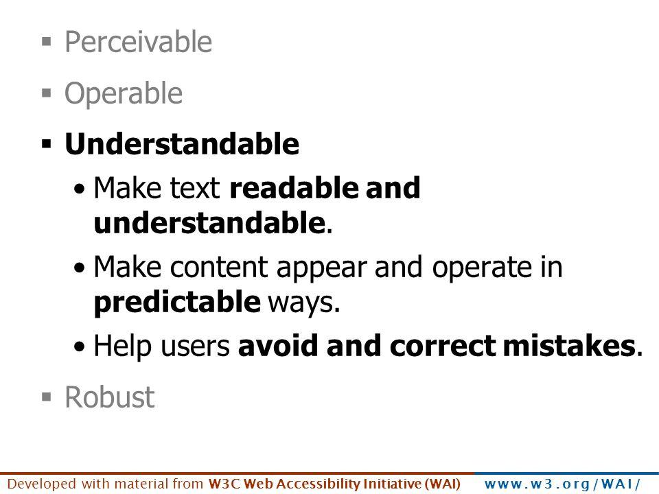 Principles - understandable