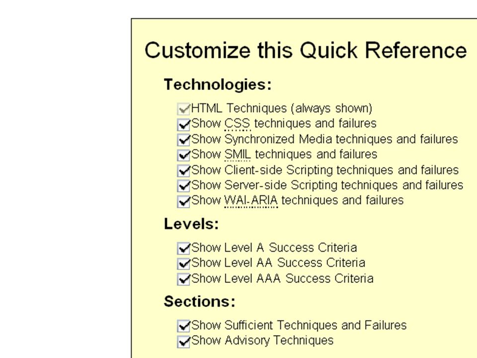 Quick Reference screen shot