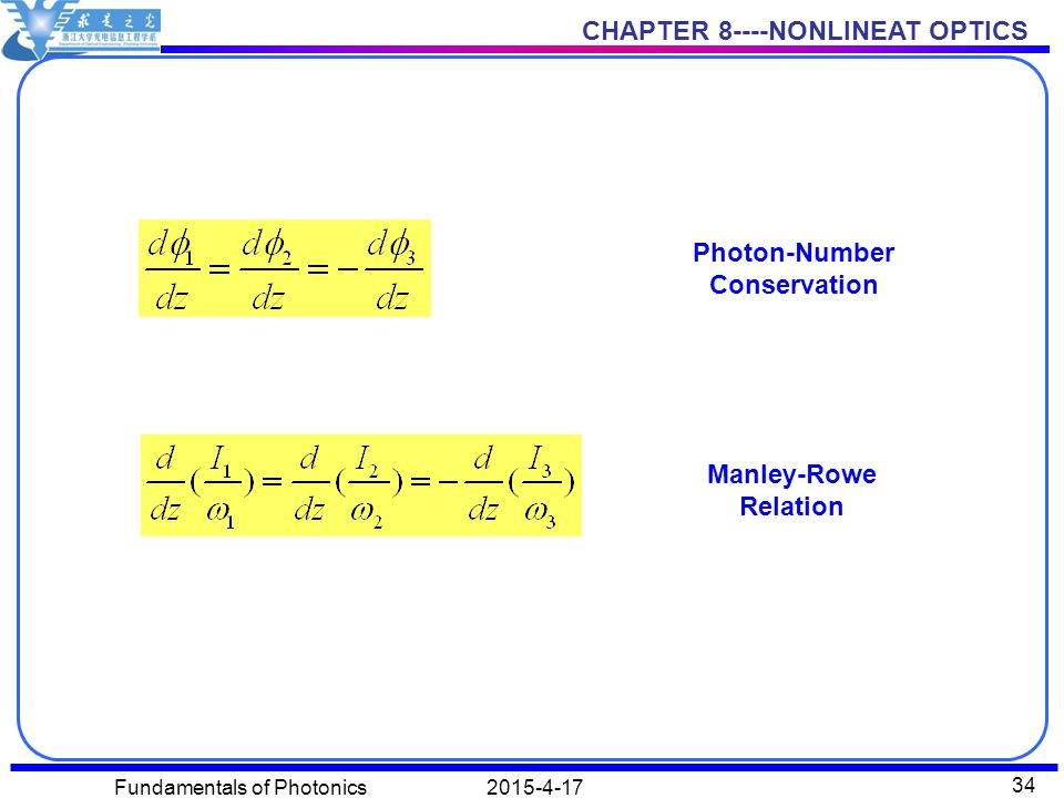 Photon-Number Conservation