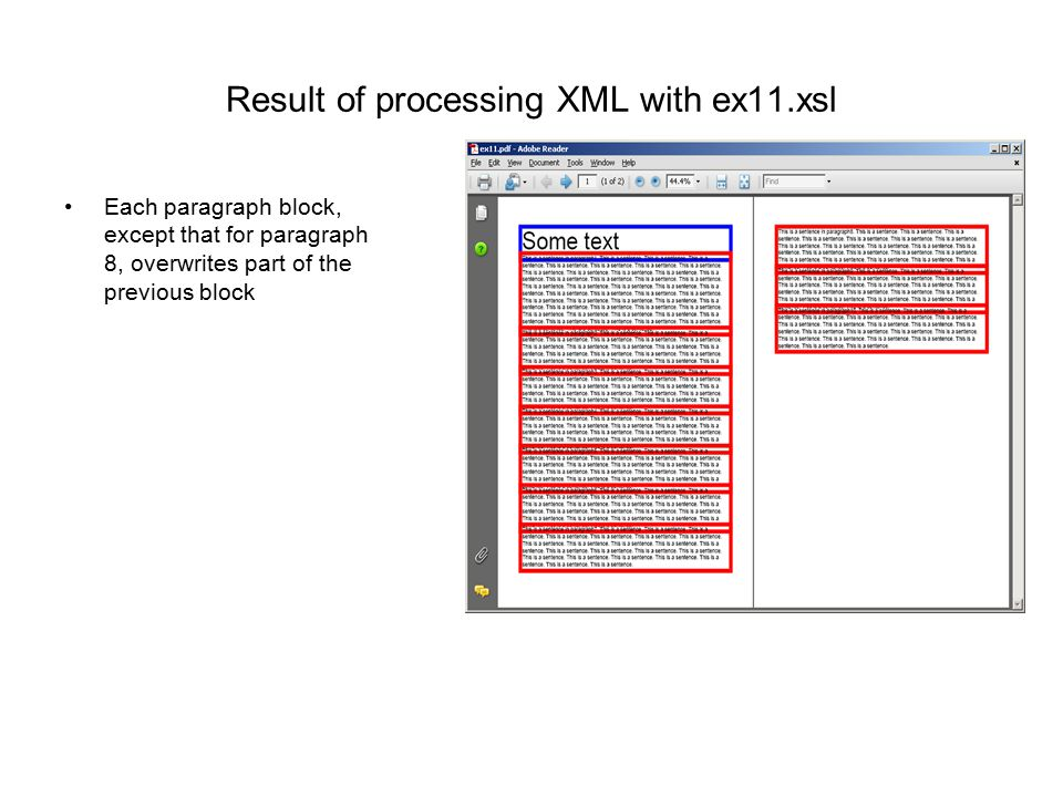 Result of processing XML with ex11.xsl