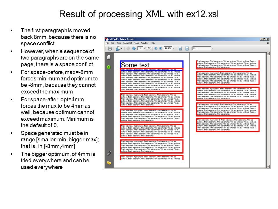 Result of processing XML with ex12.xsl
